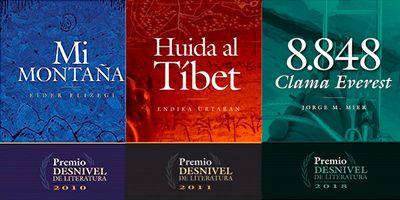 12 portada libros ganadores del premio desnivel de literatura
