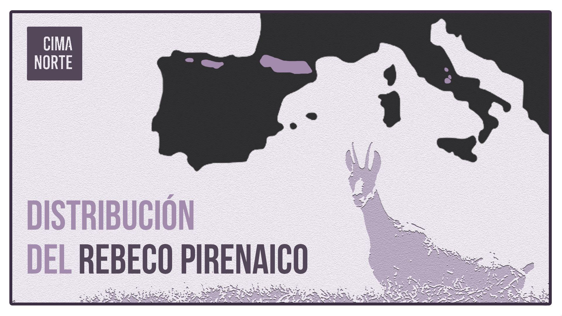 El rebeco o sarrio en el Pirineo distribucion mapa