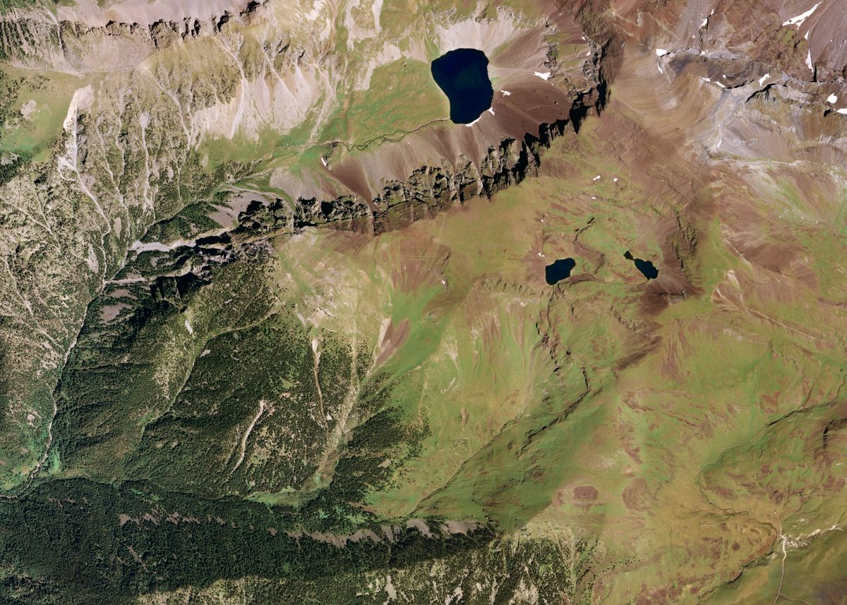 Imagen de satélite del Valle de Gistaín