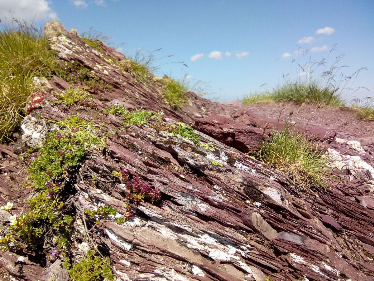 paisajes marcianos en el Pirineo royos rojizos geologia