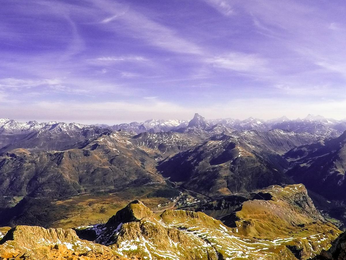 vistas desde la cima del aspe