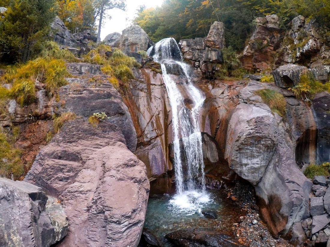 Cascadas de La Larri Pineta Valle Cima Norte