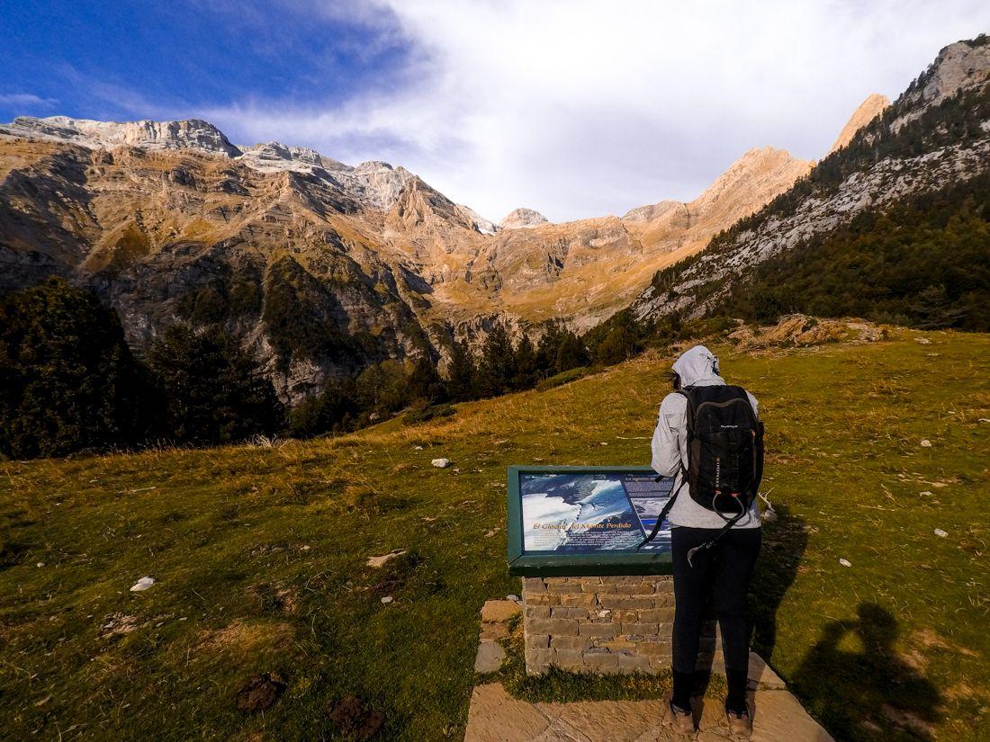 ordesa vistas desde pineta monte perdido glaciar cilindro