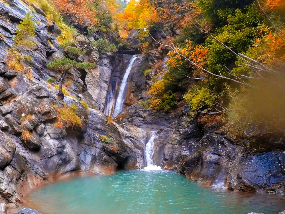 barranco canfranc otoño