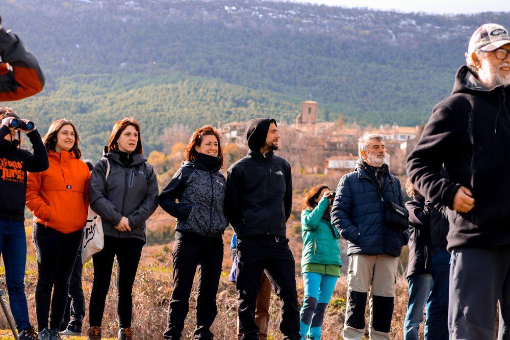 artieda observacion aves I fiesta de las grullas del Pirineo Artieda 2020