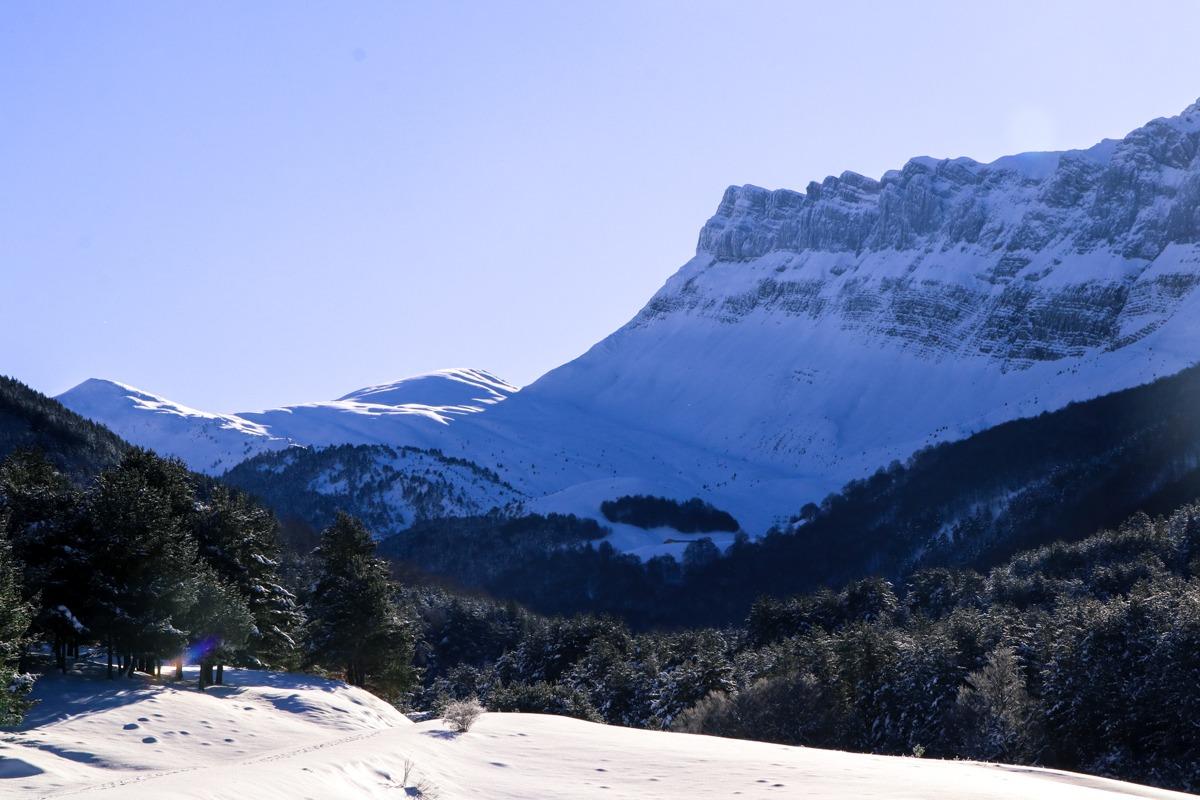 valle de zuriza vistas a la cresta de alano
