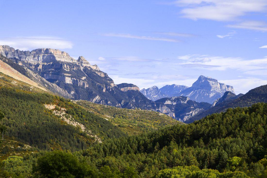 vistas desde el pueblo de Fanlo pirineo cima norte