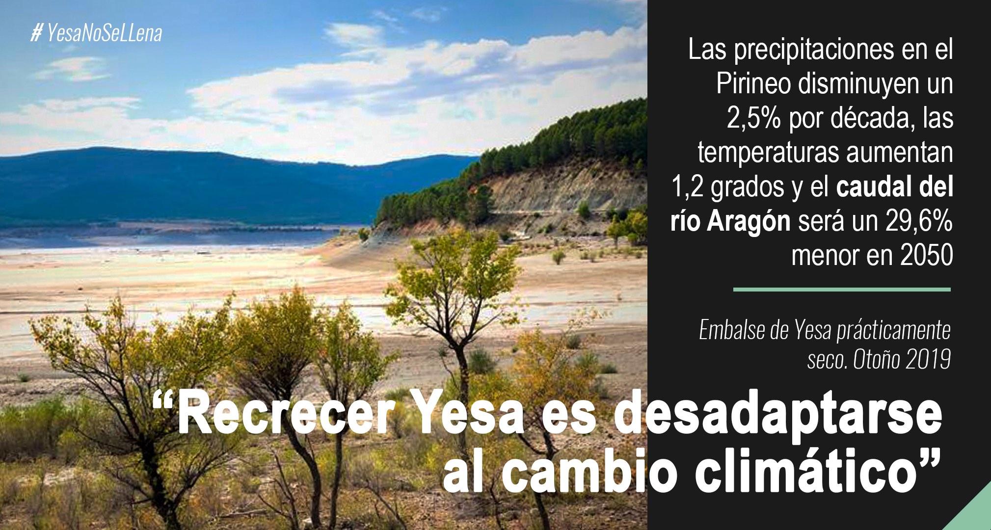 Infografías clima y agua Cambio Climático yesa recrecimiento
