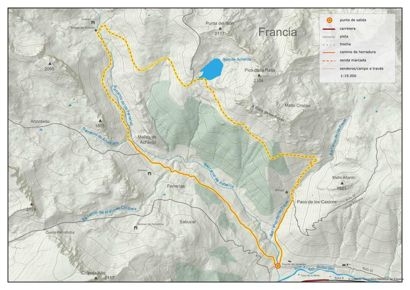 mapa circular ibon de acherito