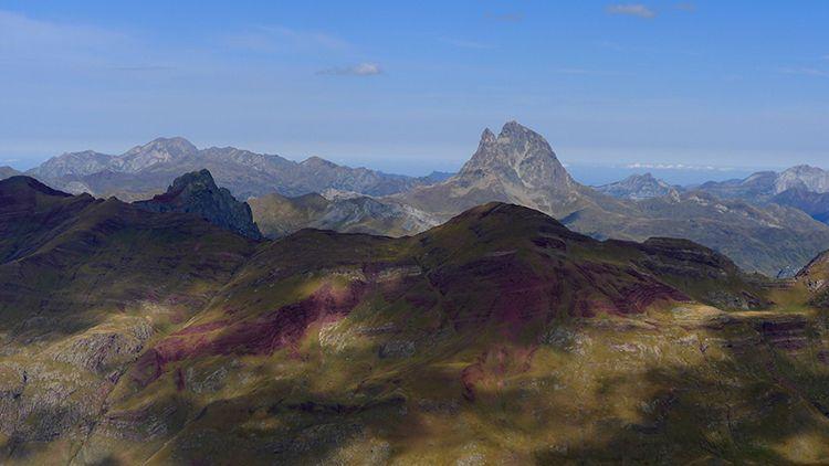 Punta Escarra vista desde la cima Anayet y Midi