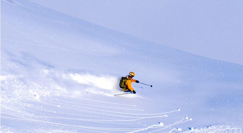 esquiador freeride