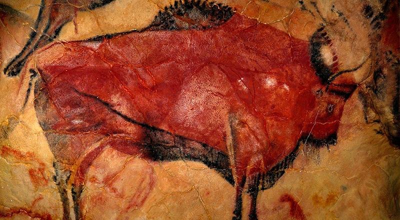 bisonte estepario dibujo península altamira