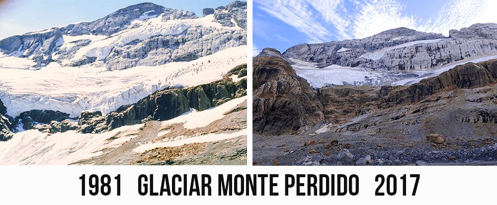 evolucion glaciar Monte Perdido
