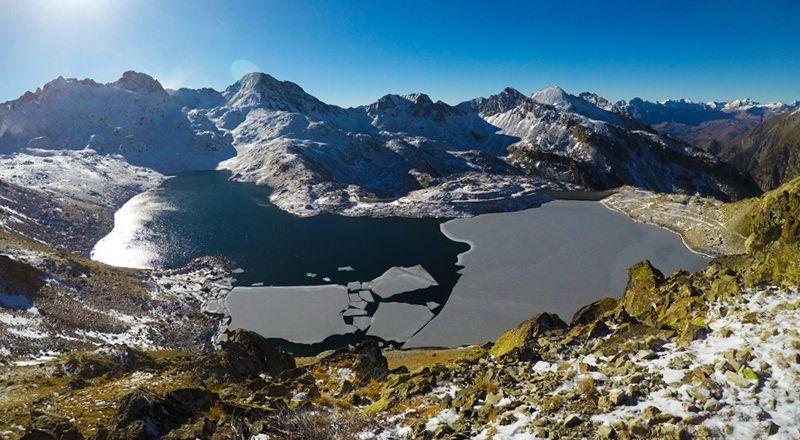 ibones brazatos cima norte Pirineo valle de tena