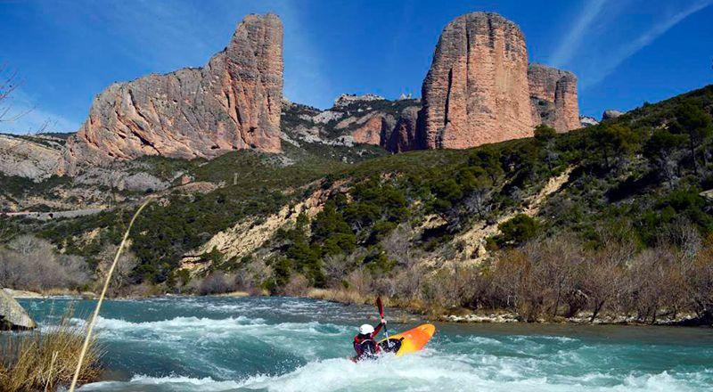 kayak río gallego riglos mallos murillo