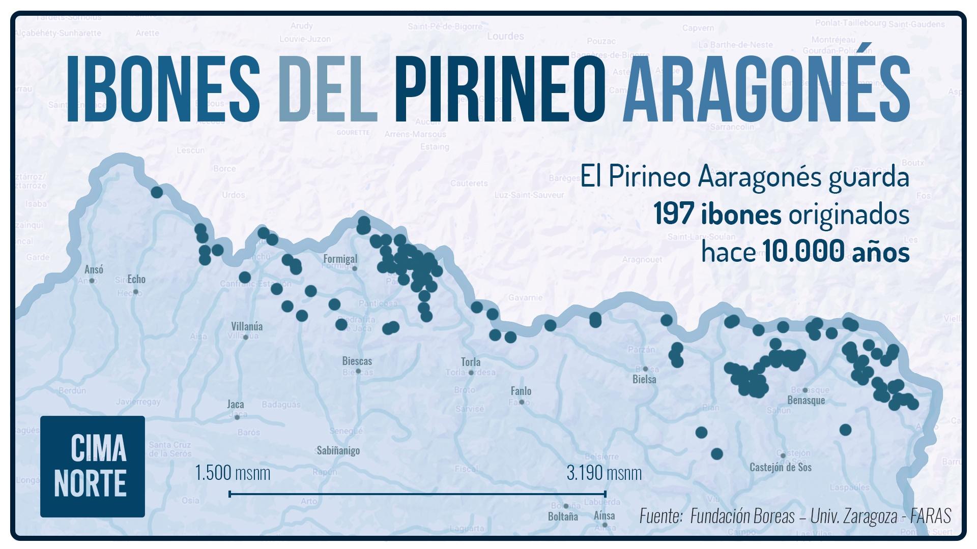 mapa ibones del pirineo aragonés