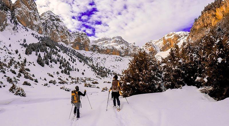 paseo raquetas rioseta pirineo candanchu