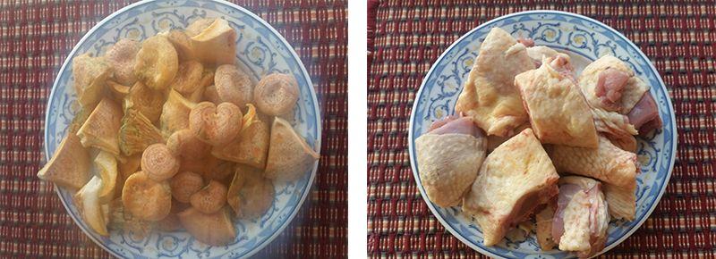 receta fongo royo rebollon pollo